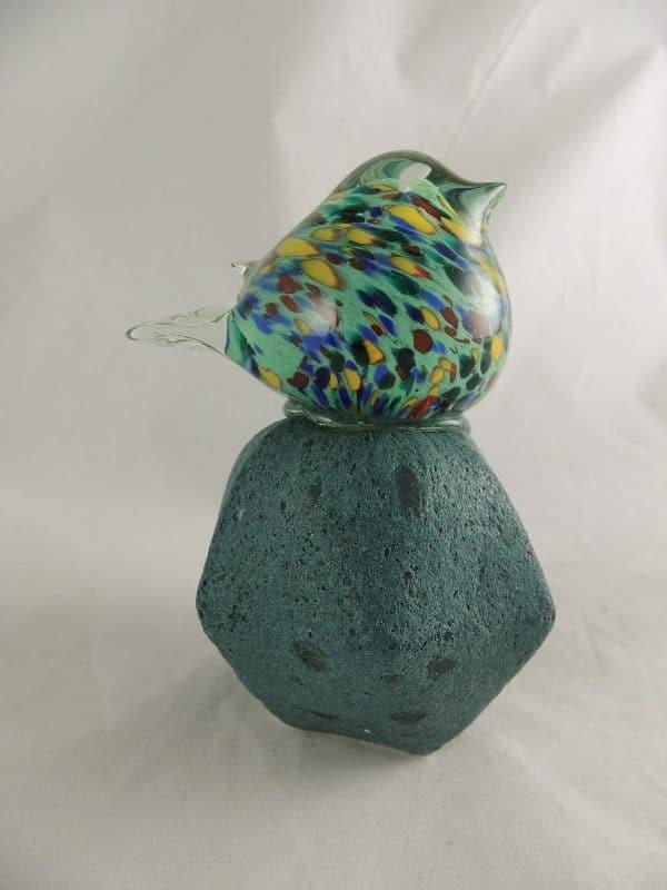 Glas vogel op glasvoet Small - Prana Puur | Cadeau winkel Roden