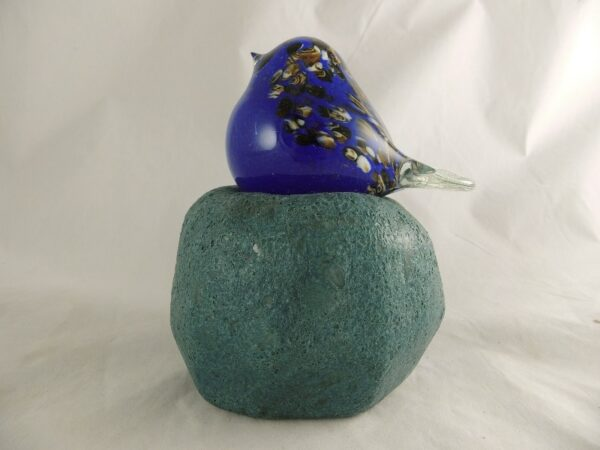 Glas vogel op glasvoet - Prana Puur | Cadeau winkel Roden