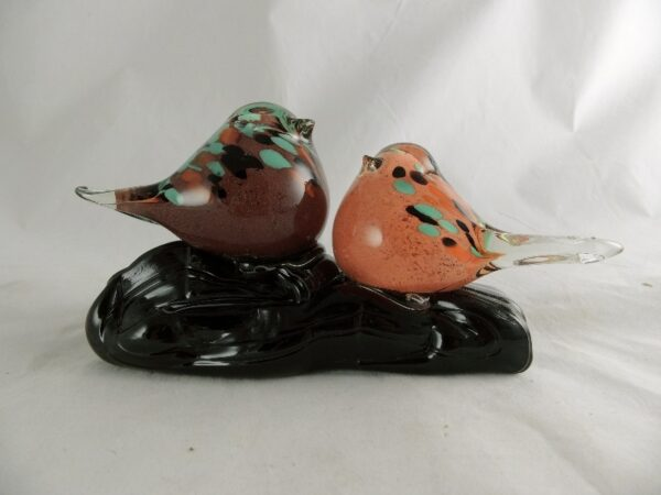 Glas vogeltjes op glasvoet - Prana Puur   Cadeau winkel Roden