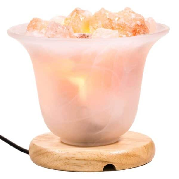 Zoutkristallamp - Prana Puur | Cadeau winkel Roden