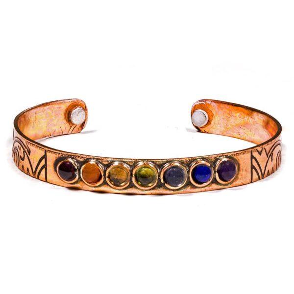Armband 7 Chakra mineralen magnetisch - Prana Puur   Cadeau winkel Roden