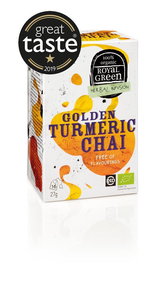 ROYAL GREEN GOLDEN TURMERIC CHAI BIO - Prana Puur | Cadeau winkel Roden