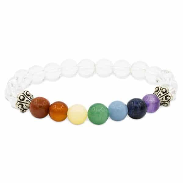 Armband chakra bergkristal elastisch - Prana Puur | Cadeau winkel Roden