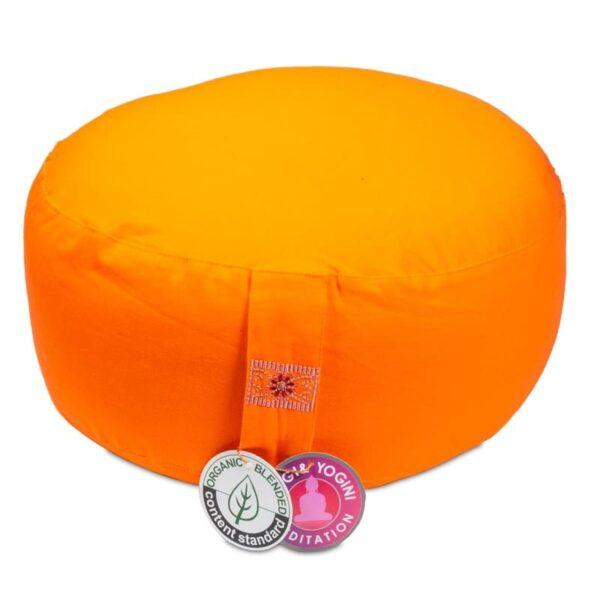 Meditatiekussen oranje bio katoen - Prana Puur | Cadeau winkel Roden