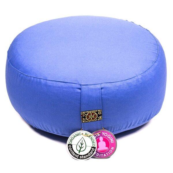 Meditatiekussen blauw bio katoen - Prana Puur | Cadeau winkel Roden