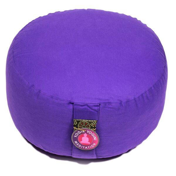 Meditatiekussen violet extra hoog BIO - Prana Puur | Cadeau winkel Roden