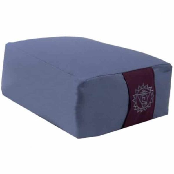 Meditatiekussen rechthoek blauw 5e chakra - Prana Puur   Cadeau winkel Roden