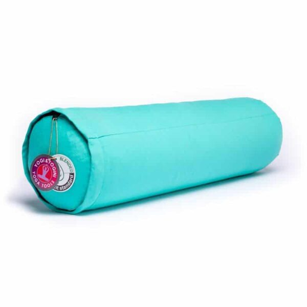 Bolster turquoise rond bio katoen - Prana Puur | Cadeau winkel Roden