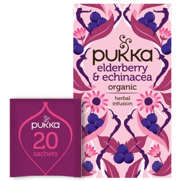 Pukka Elderberry & Echinacea - Prana Puur | Cadeau winkel Roden