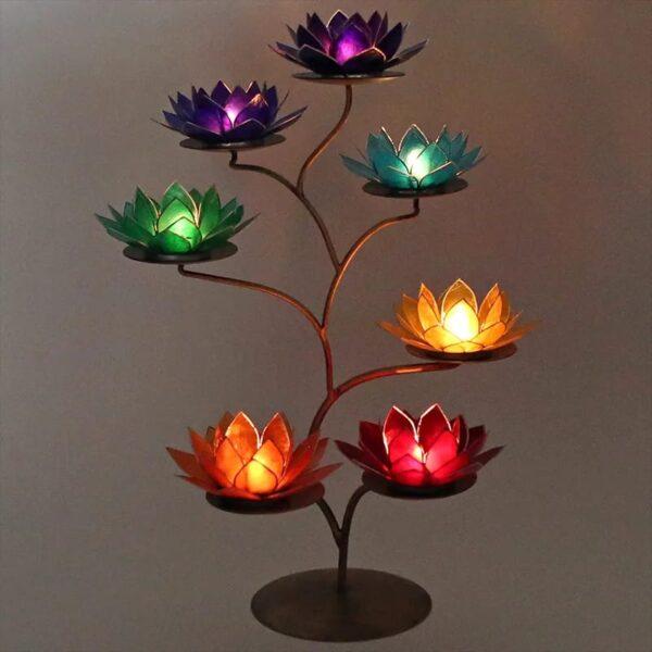 Chakra Boom + 7 Lotus sfeerlichten - Prana Puur | Cadeau winkel Roden