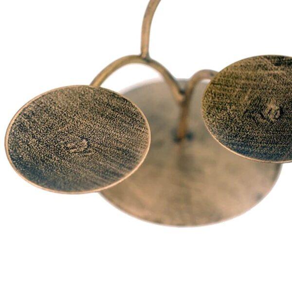 Chakra Boom brons + 7 Lotus sfeerlichten - Prana Puur   Cadeau winkel Roden