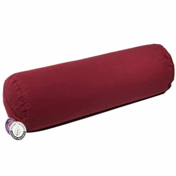Bolster rood rond bio katoen - Prana Puur   Cadeau winkel Roden