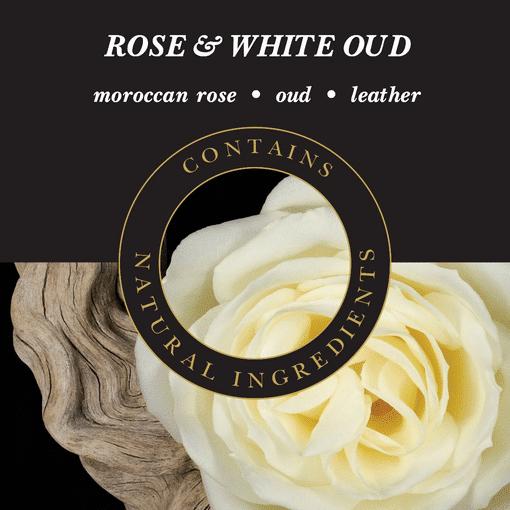 Geurlamp vloeistof Rose White Oud - Prana Puur | Cadeau winkel Roden