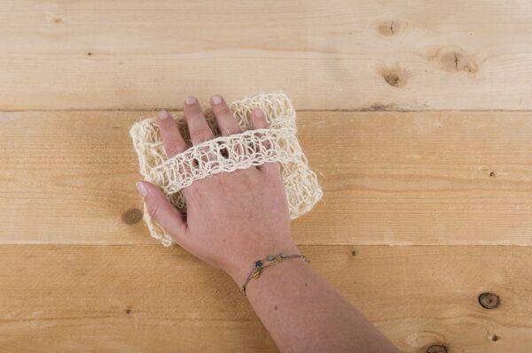 Happy Scrub Handschoen Sisal en Katoen - Prana Puur | Cadeau winkel Roden