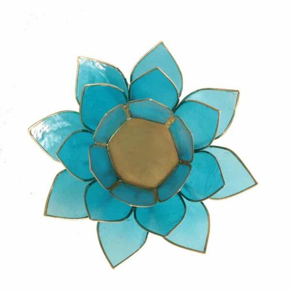 Lotus sfeerlicht Blauw   5e Chakra - Prana Puur   Cadeau winkel Roden