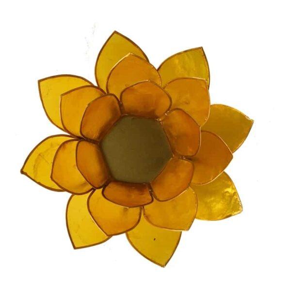 Lotus sfeerlicht Geel | 3e Chakra - Prana Puur | Cadeau winkel Roden