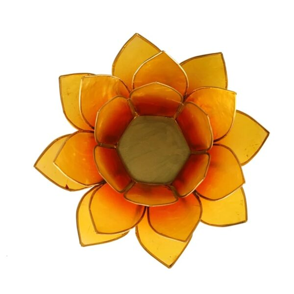 Lotus sfeerlicht Oranje | 2e Chakra - Prana Puur | Cadeau winkel Roden