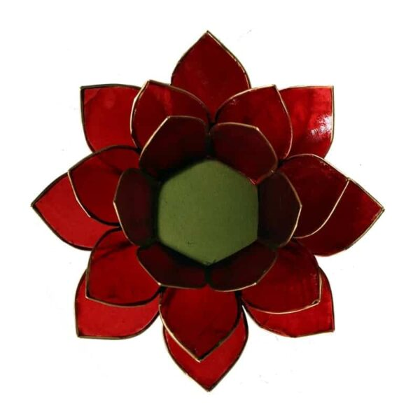 Lotus sfeerlicht Rood | 1e Chakra - Prana Puur | Cadeau winkel Roden