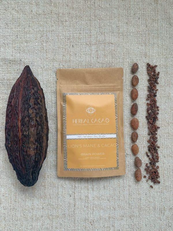 Herbal Cacao Cacao-Lion's Mane - Prana Puur   Cadeau winkel Roden